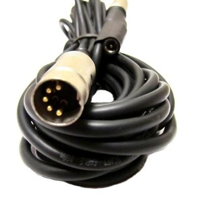 MIDI кабель с гнездом для фантомного питания, 5м